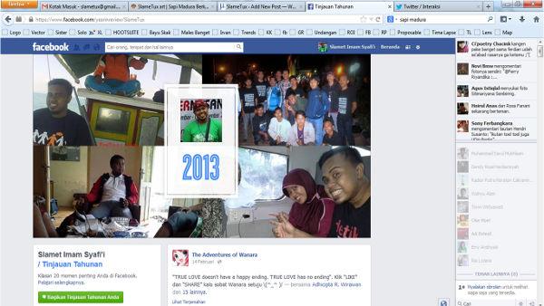 Tinjauan Facebook SlameTux Selama Tahun 2013 1