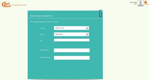 Cari Community Lengkapi Profil