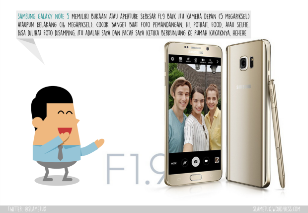 Aperture Kamera Samsung Galaxy Note 5-SlameTux