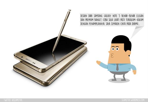 Curvy Design Samsung Galaxy Note 5-SlameTux