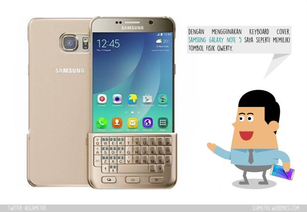 Keyboard Cover Samsung Galxy Note 5-SlameTux