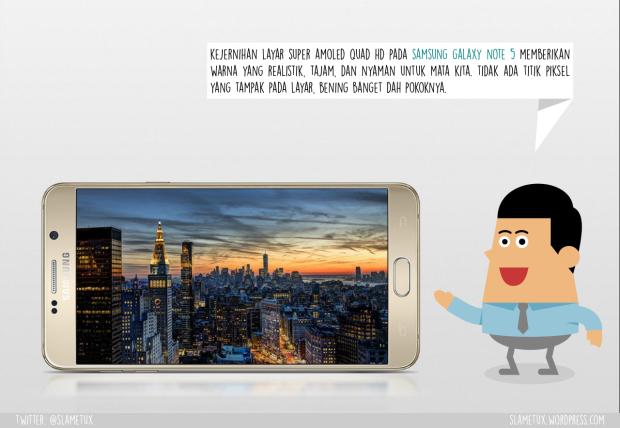 Layar Super AMOLED Quad HD Samsung Galaxy Note 5-SlameTux