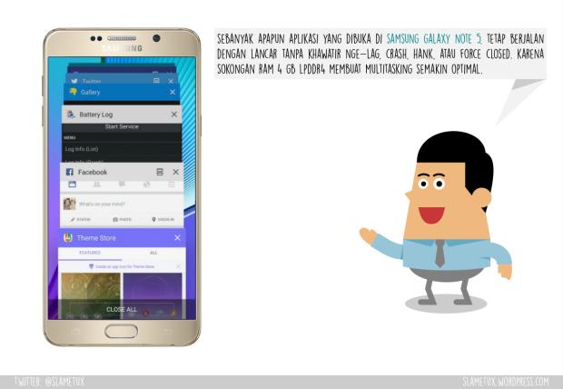 Multitasker Samsung Galaxy Note 5-SlameTux