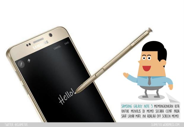Off Screen Memo Galaxy Note 5-SlameTux