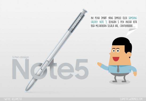 S Pen Samsung Galaxy Note 5-SlameTux